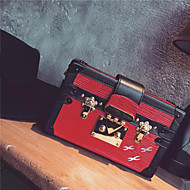 Women's Casual Box Suitcase PU Leather Shoulder Bags