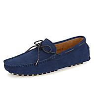 Men's Spring / Summer / Fall / Winter Comfort / Novelty / Boat / Round Toe Suede Office & Career / Casual / Party & Evening Flat Heel