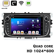 "Quad Core Android 4.2 Car DVD 7"" HD 1024*600 3G Build-in with WCDMA Communication Function For Focus With Wi-Fi GPS BT"