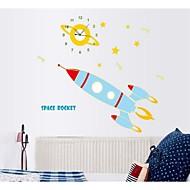 desenhos animados do relógio adesivos luminosos furar uma escola foguete pequeno decoração sala de crianças