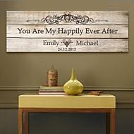 e-home® personlig signatur lerret ramme-du er min lykkelig