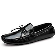 Kényelmes-Lapos-Női cipő-Papucsok & Balerinacipők-Szabadidős Alkalmi Party és Estélyi-Bőr-Fekete Fehér