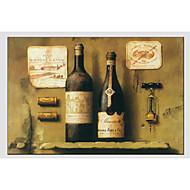 Maalattu AsetelmaModerni / European Style 1 paneeli Kanvas Hang-Painted öljymaalaus For Kodinsisustus