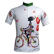 JESOCYCLING® Fahrradtrikot Damen Kurze Ärmel FahhradAtmungsaktiv / Rasche Trocknung / UV-resistant / Reißverschluß vorne / Tasche auf der
