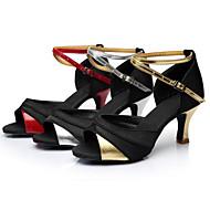 Sapatos de Dança ( Vermelho/Prateado/Dourado ) - Mulheres - Customizáveis - Latim/Sapatilhas de Dança
