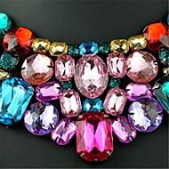 Femme Colliers Déclaration Colliers plastrons Cristal Bijoux Strass Cristal Autrichien Imitation Diamant 18K orMode Européen Bijoux
