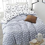 ensembles de literie de couette de lit pour literie feuille reine couvre taies d'oreiller lit lin coton réactive motif d'impression de
