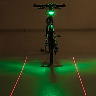 자전거 라이트 / LED 전구 / 자전거 후미등 LED / Laser - 싸이클링 경고 AAA 400 루멘 배터리 사이클링