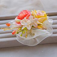 Dame/Blomsterpige Blonde/Rhinestone/Legering Headpiece Bryllup/Spesiell Leilighet/Utendørs Barette Bryllup/Spesiell Leilighet/Utendørs1