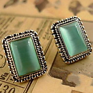 Gemstone Opal  Earrings Temperament