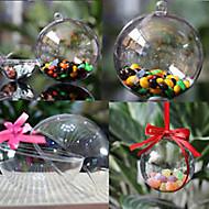 dekorative durchsichtigen Kunststoff Acryl ausfüllbare Ball hängende Ornamente 80mm - Packung von 5
