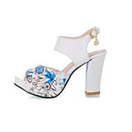Women's Shoes Heel Heels / Peep Toe / Platform Sandals / Heels Outdoor / Dress / Casual Black / Blue / Green / Red