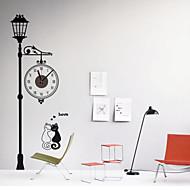 Moderne/Contemporain Rétro Animaux Personnages Inspiré Mariage Famille Amis Horloge murale,Nouveauté Plastique Autres Intérieur/Extérieur