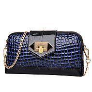 Women PU / Patent Leather Formal / Casual / Event/Party / Wedding Shoulder Bag / Clutch Blue / Red / Black