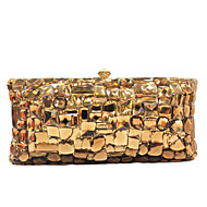 Women's Gold Crystal Clutch Evening Bags