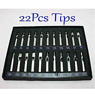 22pcs / set tatuagem pontas dos bicos de aço inoxidável set 22 diferentes tamanhos qualidade do fornecimento tatuagem