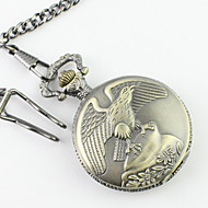 Men's Eagle Pattern Alloy Analog Quartz Pocket Watch Cool Watch Unique Watch