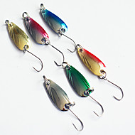 6PCS Metal Fishing Bait Lures  with Hook Random Color