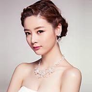 Conjunto de jóias Cristal Liga Mulheres
