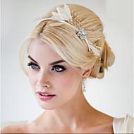 ручной свадебный волосы перо чародей заставки fascinators 006