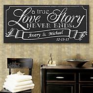 e-Home® personlig signatur lærred ramme-kærlighedshistorie