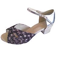 Sapatos de Dança ( Prateado ) - Mulheres Latim