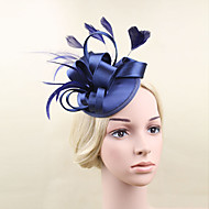 Women Satin/Feather Bride Flowers/Hats With Wedding/Party Headpiece(More Colors)