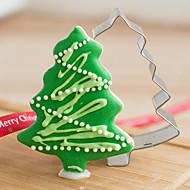 Vánoční borovice tvaru Vykrajovátka ovoce řezané formy z nerezové oceli