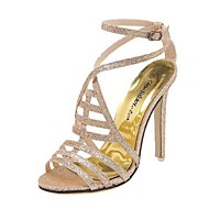 Women's Shoes Stiletto Heel Open Toe Sandals Casual Silver/Gold