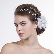 Dame Organza Medaljon-Bryllup / Speciel Lejlighed Blomster 1 Stykke Klar / Hvid Rund