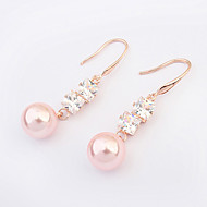 European Style Fashion Cute Party Alloy Cubic Zirconia/Imitation Pearl Drop Earrings