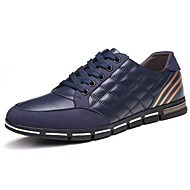 Men's Spring Summer Fall Winter Leather Outdoor Office & Career Black Blue Brown Burgundy Sneaker