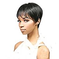 neues Ankunftsschwarzes 1b Farbe kurzen geraden Haar Perücken synthetische Perücke capless natürlichen sexy täglich Perücken