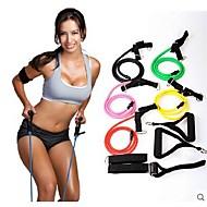 natürliche Spannung Gesundheit elastischen Übungsausdehnungsband Zugseil Band mit Griff sport Widerstand Bands (gelegentliche Farbe)