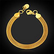u7® 18k zlato se plnilo twisted Figaro popcorn řetězový náramek pro muže ženy 5mm 21cm