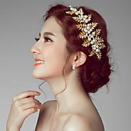 Gold Romantic Vintage Style Wedding/Party Headpieces/Hair Accessories with Imitation Pearls