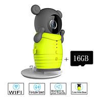 besteye® 16GB TF karet a roztomilý bezdrátové wifi kamera s IR noční vidění IP dohled bezdrátové kamery
