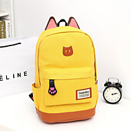Women Canvas Outdoor Backpack Blue / Yellow / Brown / Red