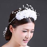 Women Crystal//Imitation Pearl/Chiffon Headbands/Flowers With Crystal/Imitation Pearl Wedding/Party Headpiece