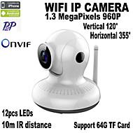 실내 - 낮 밤/모션 감지/듀얼 스트림/리모트 액서스/IR-컷/Wi-Fi 안전 설치/플러그 및 재생 PTZ