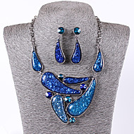 Women Vintage/Party/Work/Casual Alloy/Gemstone & Crystal/Cubic Zirconia/Acrylic Necklace/Earrings Sets