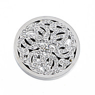 Fashion Summer Gift 33mm Alloy Mi Moneda Silver Disc for 35mm Coin Necklace Holder Pendant