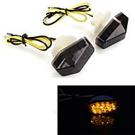 Motorcycle 12 LEDs Rear Turn Signal Blinker Indicator Light Lamp for Kawasaki  (2 Pcs)