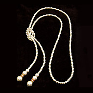 European Style Concise Fashion Imitation Pearl Long Necklace