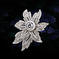Women's Alloy Fashion Flower Wedding/Party Brooches & Pins With Rhinestone
