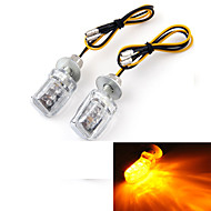 Motorcycle Motorbike Amber LED Turn Signal Light Bulb Indicator 12V (2 Pcs)