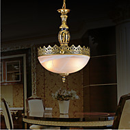 Traditional/Classic / Vintage / Retro Bronze Metal Pendant Lights Living Room / Bedroom / Dining Room / Study Room/Office / Hallway