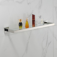 Contemporary Mirror Polished Wall Mounted Bathroom Shelves