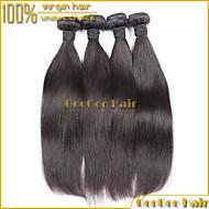 """4шт / много 10 """"-28"""" перуанский девственница волосы прямые необработанный натуральный черный человек перуанский расширение волосы ткать"""