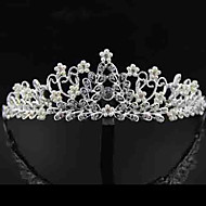 Women Rhinestone/Alloy/Imitation Pearl Tiaras With Wedding/Party Headpiece